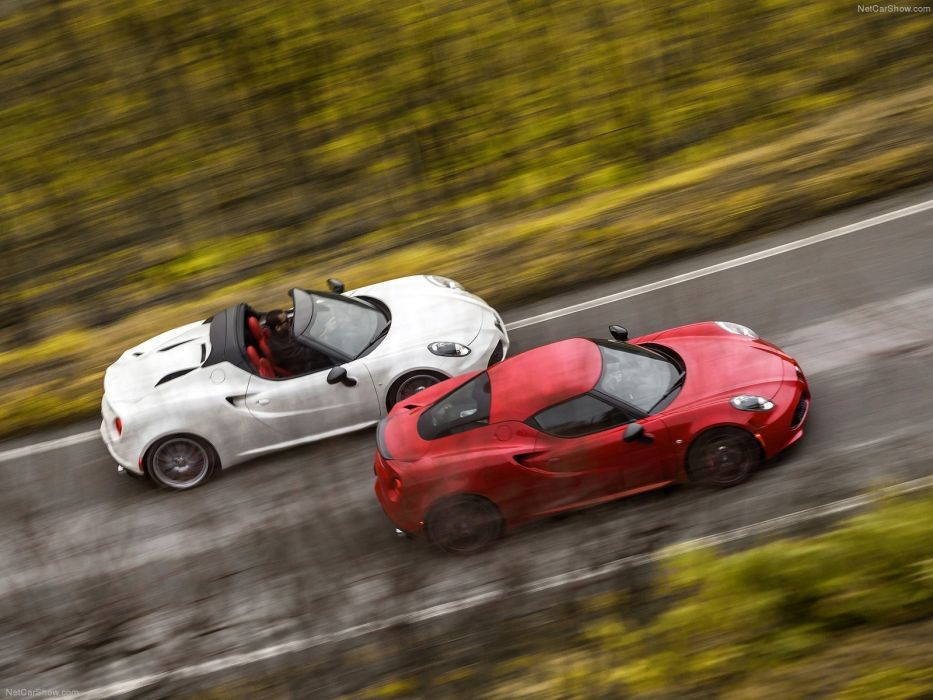 Alfa Romeo 4C Spider 2015 cars italia red wallpaper