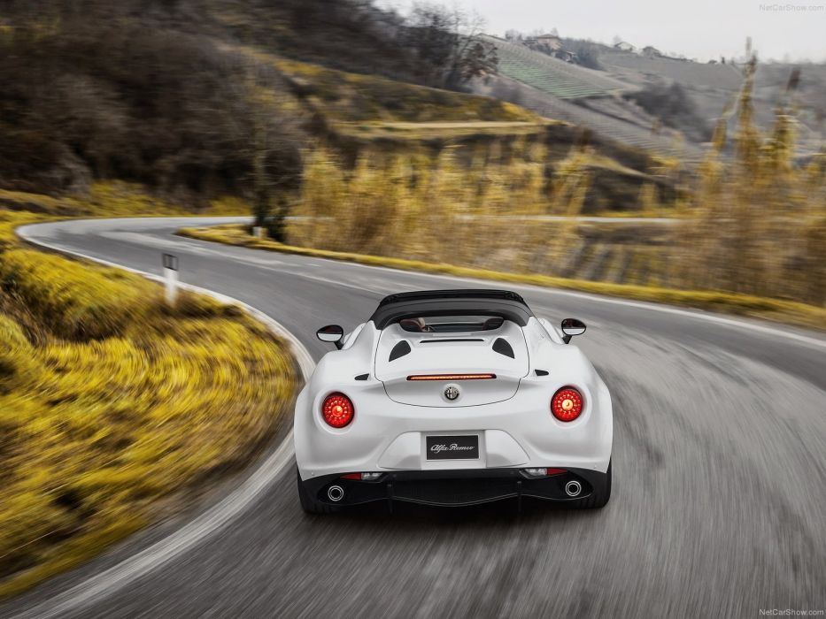 Alfa Romeo 4C Spider 2015 cars italia white wallpaper