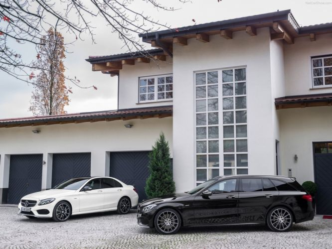 Mercedes Benz C450 AMG 4Matic Estate wagon cars germany wallpaper