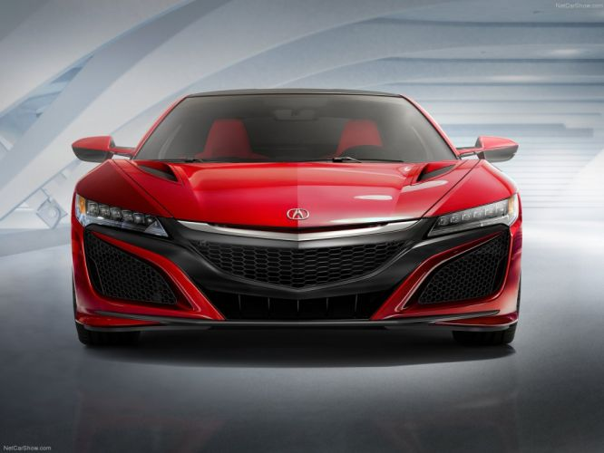 Acura NSX 2016 coupe cars supercars red wallpaper