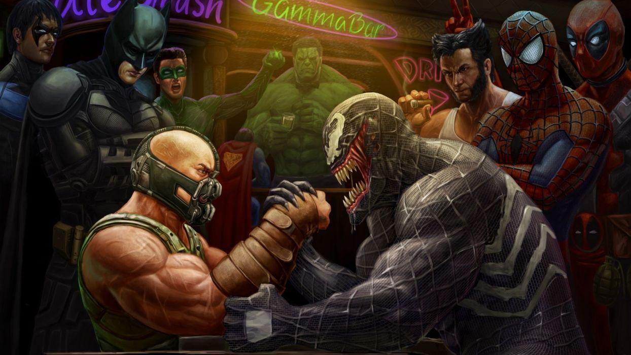 Bane Venom Marvel Wallpaper