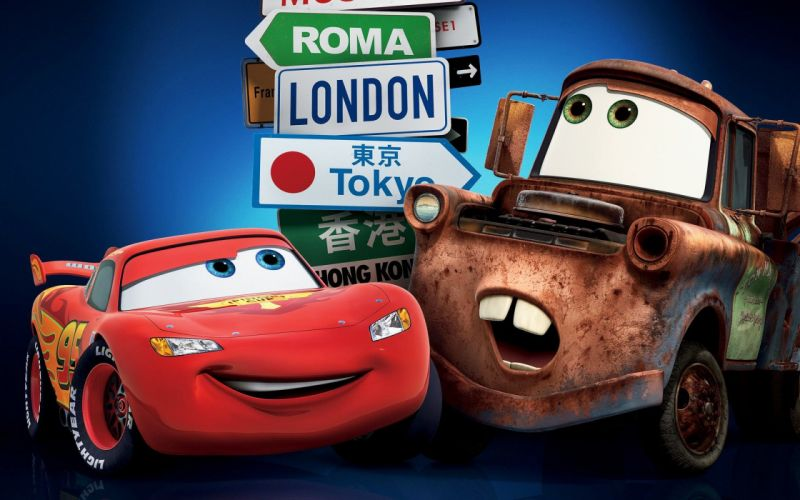 Lightning McQueen Mater Cars Cartoon wallpaper