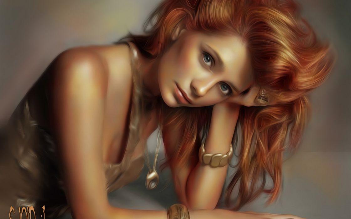 art girl painting beautiful wallpaper