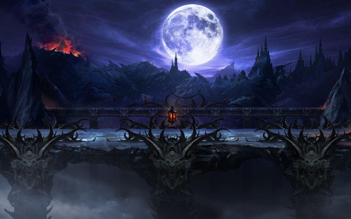 Mortal Kombat X Stage moon fantasy wallpaper