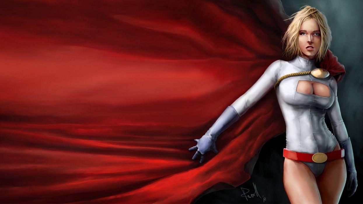 HEROES - girl supergirl cape blonde sensuality wallpaper