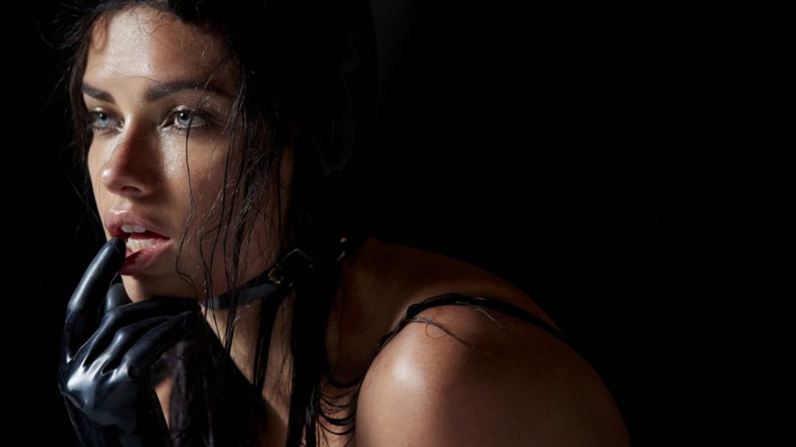 SENSUALITY - Adriana Lima girl model look glove wallpaper