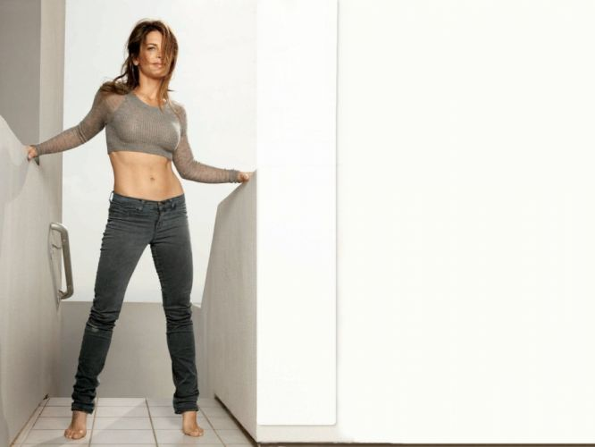 SENSUALITY - girl model jeans fitness belly wallpaper