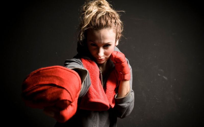 SPORTS - girl fitness athletic boxing wallpaper