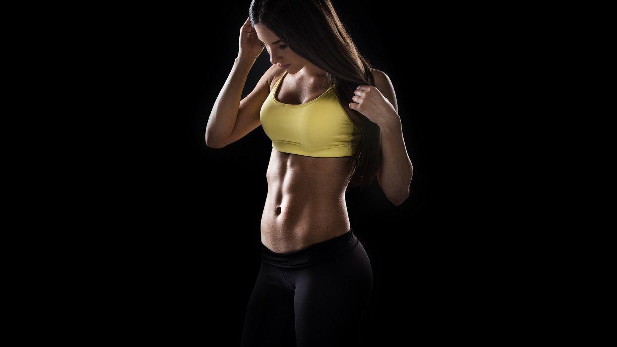 SPORTS - girl fitness belly model jen selter wallpaper