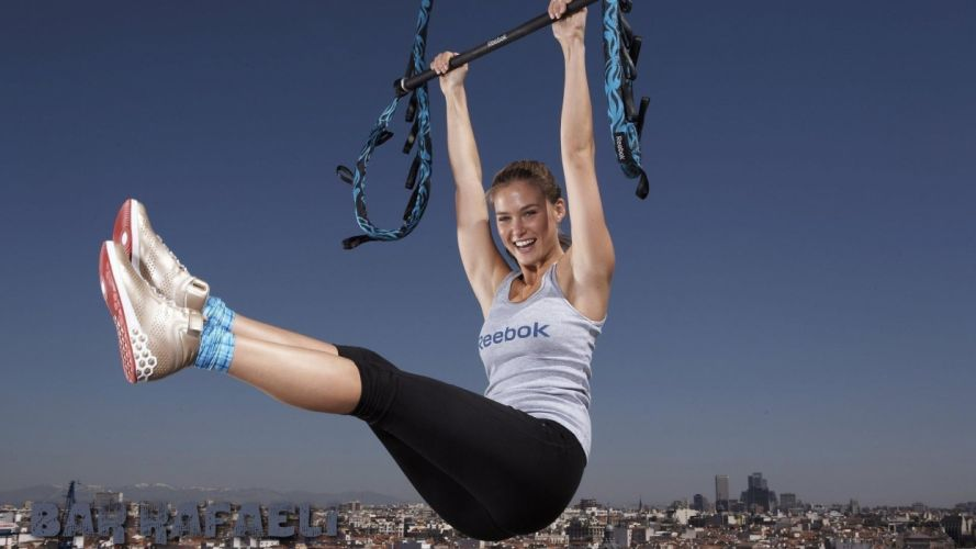 SPORTS - girl fitness execise model bar wallpaper