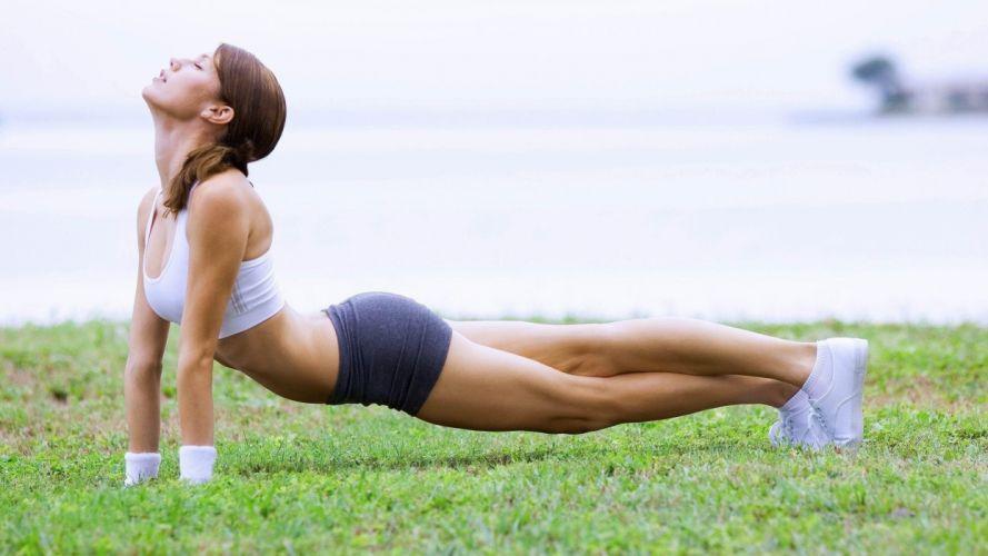 SPORTS - girl fitness exercise posture wallpaper