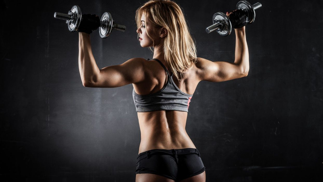 SPORTS - girl fitness exercise weight bodybuilding wallpaper