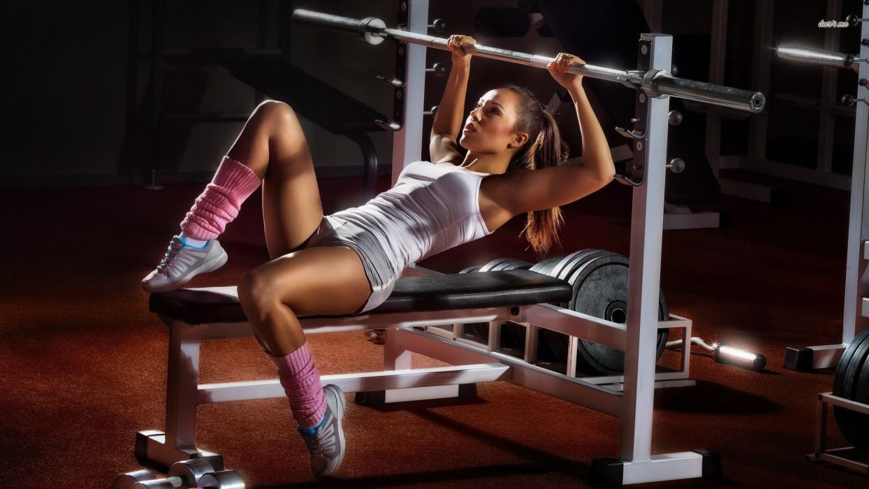 SPORTS - girl fitness gym weight bodybuilding wallpaper