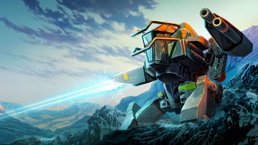 ANOMALY sci-fi action strategy tactical tower fighting futuristic 1anomaly mecha robot wallpaper