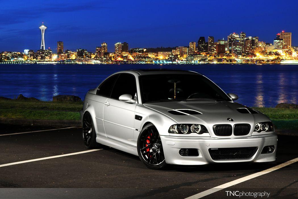 BMW E46 M3 Silver Front Angle wallpaper