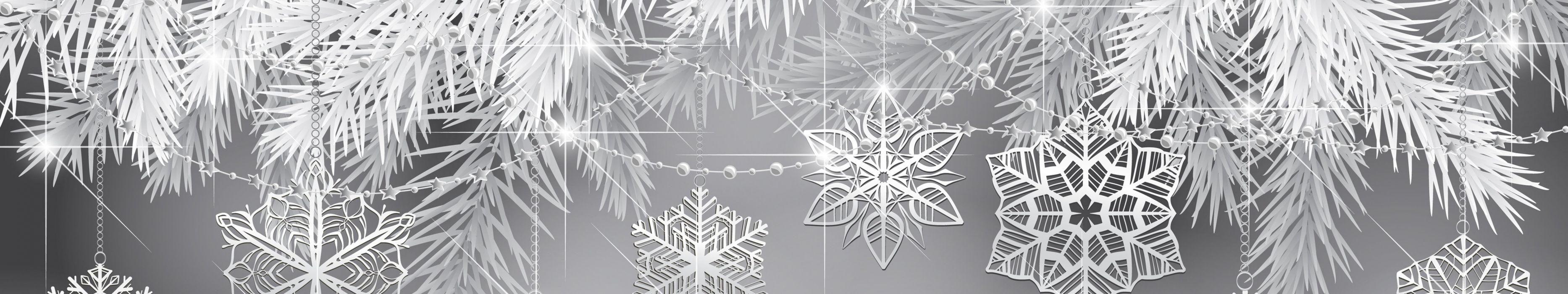triple monitor multi multiple screen winter hiver abstract flocon neige snow snowflake wallpaper