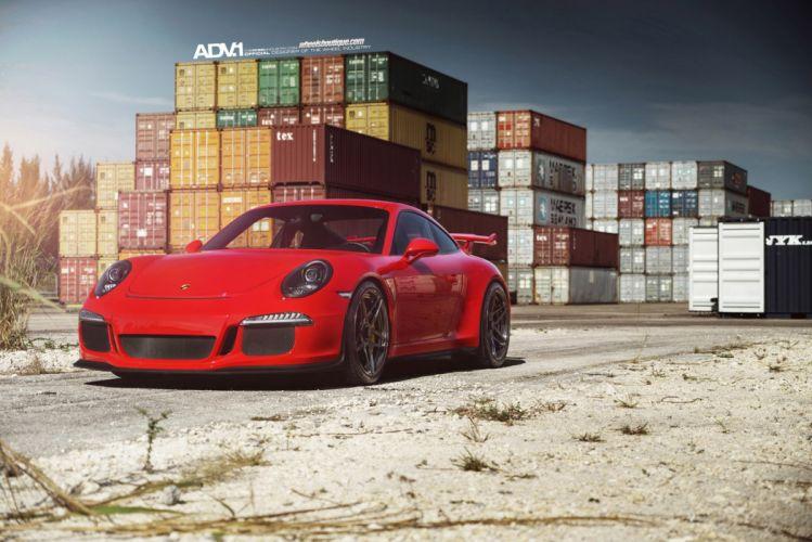 2014 ADV1 PORSCHE 911 GT3 supercars Tuning wheels cars wallpaper