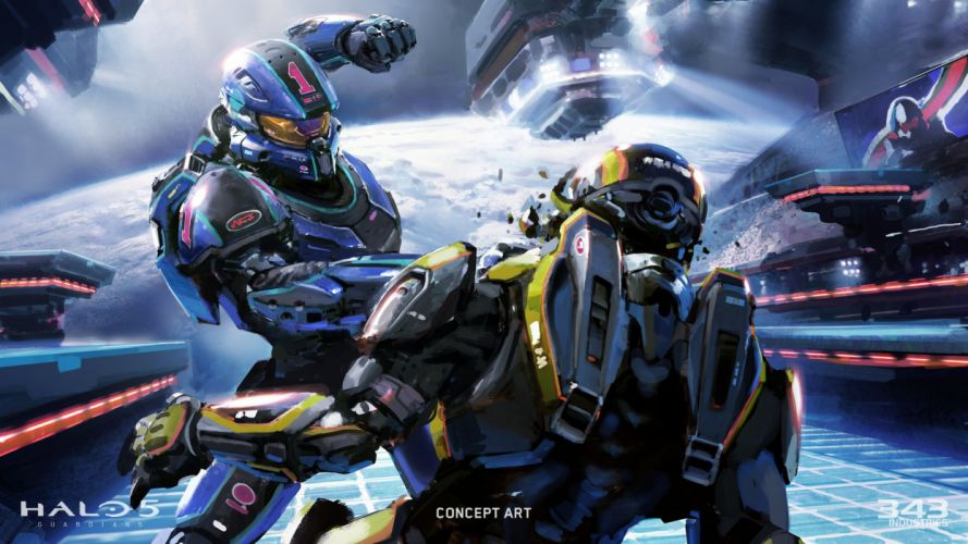 HALO 5 GUARDIANS shooter fps action fighting sci-fi warrior series war 1haloguardians warrior wallpaper