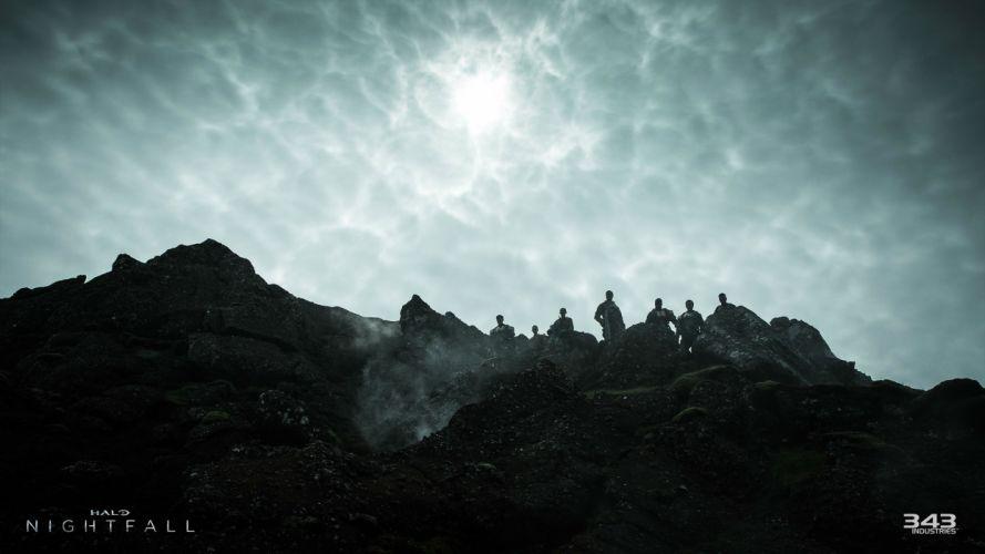HALO NIGHTFALL sci-fi futuristic action adventure series fighting war zbox microsoft 1halonightfall warrior wallpaper