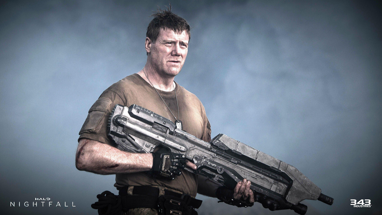 Halo Nightfall Sci Fi Futuristic Action Adventure Series Fighting War Zbox Microsoft 1halonightfall Warrior Weapon Gun Wallpaper 3000x1688 585085 Wallpaperup