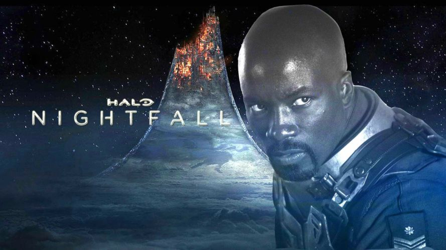 HALO NIGHTFALL sci-fi futuristic action adventure series fighting war zbox microsoft 1halonightfall warrior poster wallpaper