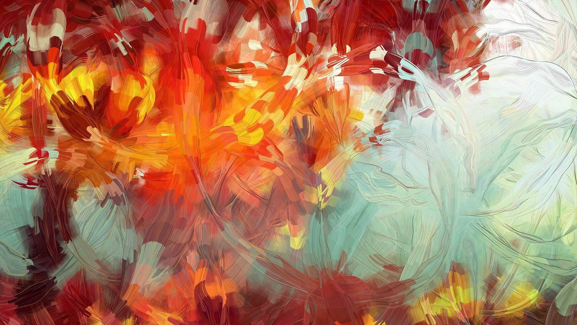 Abstract colorful illustrations artwork bright generative