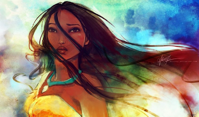 disney company princess pocahontas artwork wallpaper