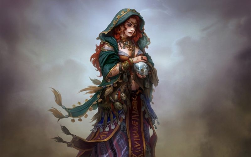 fantasy art witch woman girl wallpaper
