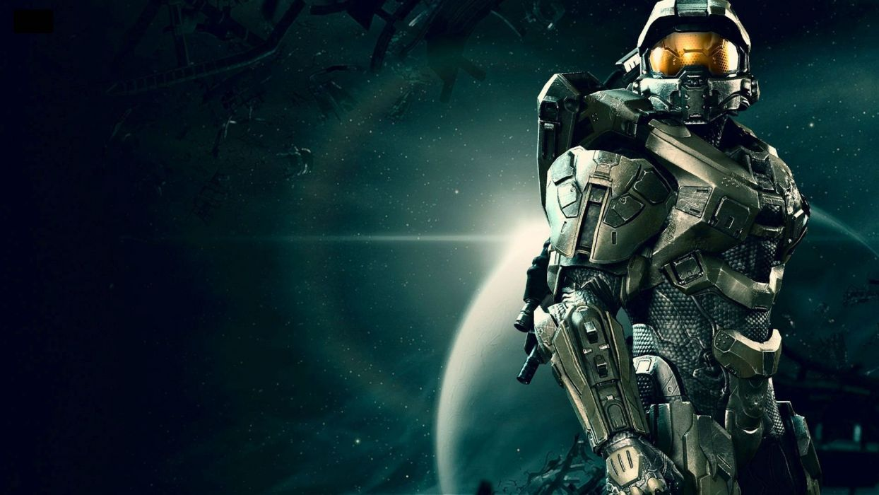 HALO Master Chief Collection sci-fi shooter action futuristic fps war fighting 1halomasterchief space planet stars wallpaper