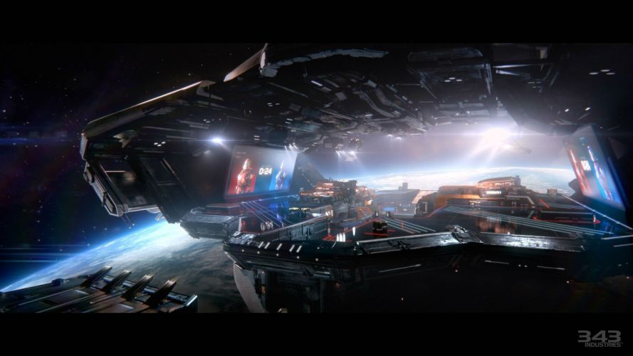 HALO Master Chief Collection sci-fi shooter action futuristic fps war fighting 1halomasterchief space spaceship wallpaper