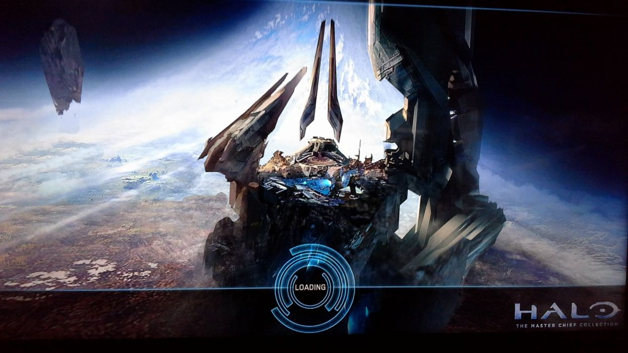 HALO Master Chief Collection sci-fi shooter action futuristic fps war fighting 1halomasterchief spaceship poster wallpaper