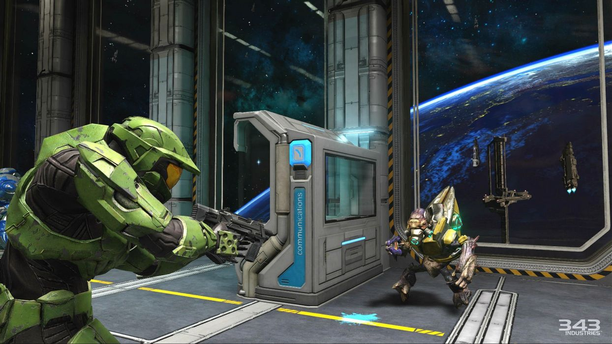 HALO Master Chief Collection sci-fi shooter action futuristic fps war fighting 1halomasterchief warrior weapon gun wallpaper