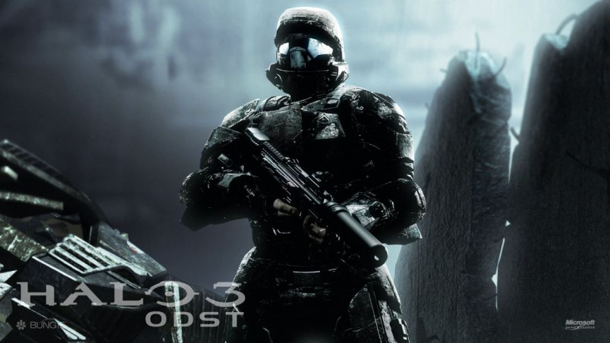HALO 3 ODST shooter fps sci-fi futuristic action fighting war 1odst warrior weapon gun wallpaper