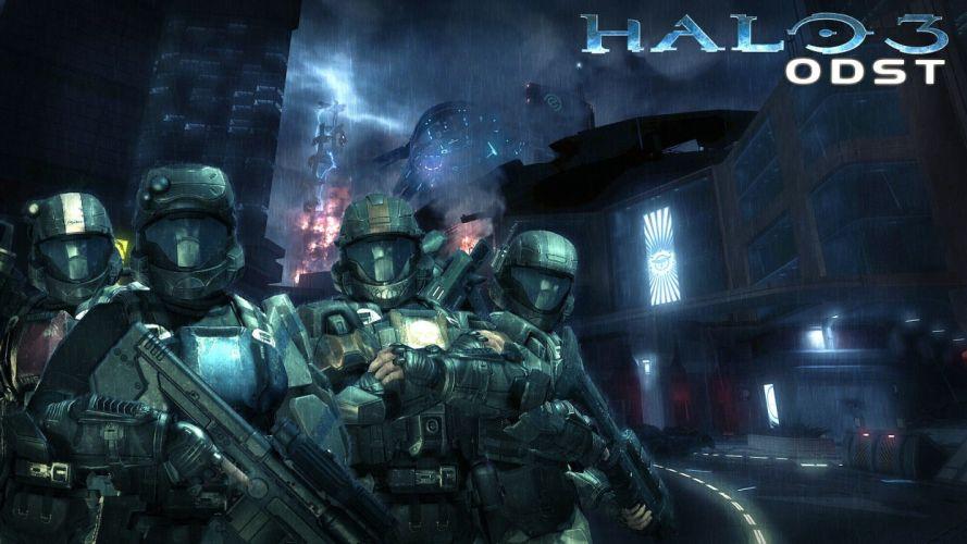 HALO 3 ODST shooter fps sci-fi futuristic action fighting war 1odst warrior weapon gun wallpaper
