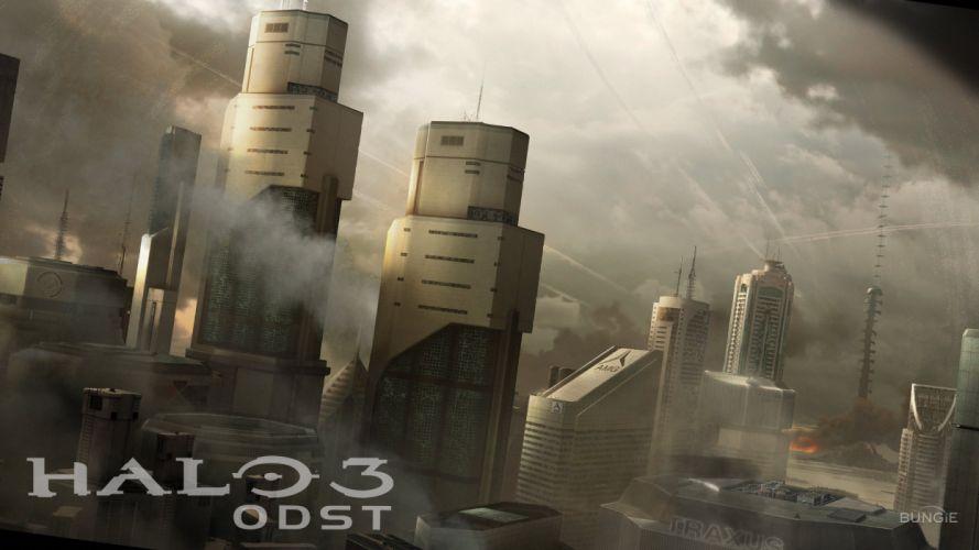 HALO 3 ODST shooter fps sci-fi futuristic action fighting war 1odst warrior wallpaper