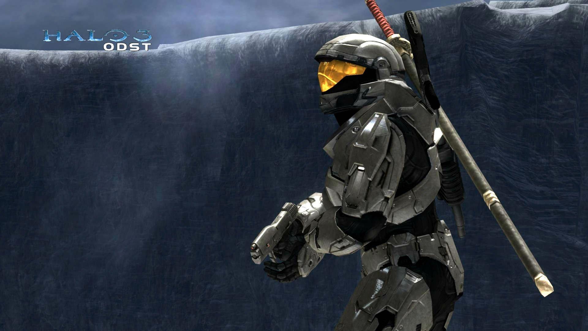 HALO 3 ODST Shooter Fps Sci Fi Futuristic Action Fighting War 1odst Warrior Weapon Gun Wallpaper