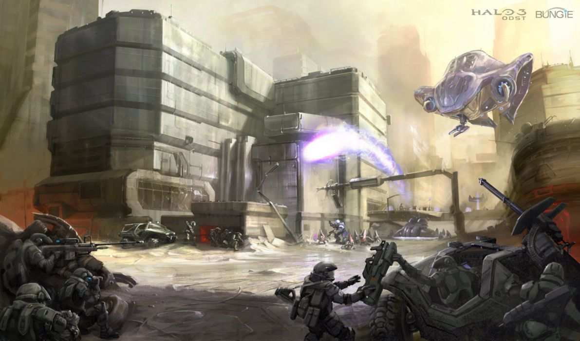 HALO 3 ODST shooter fps sci-fi futuristic action fighting war 1odst wallpaper
