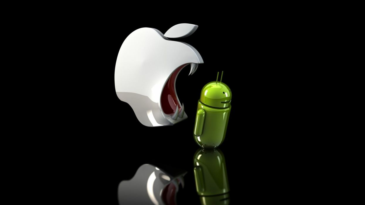 Apple Eating Android wallpaper