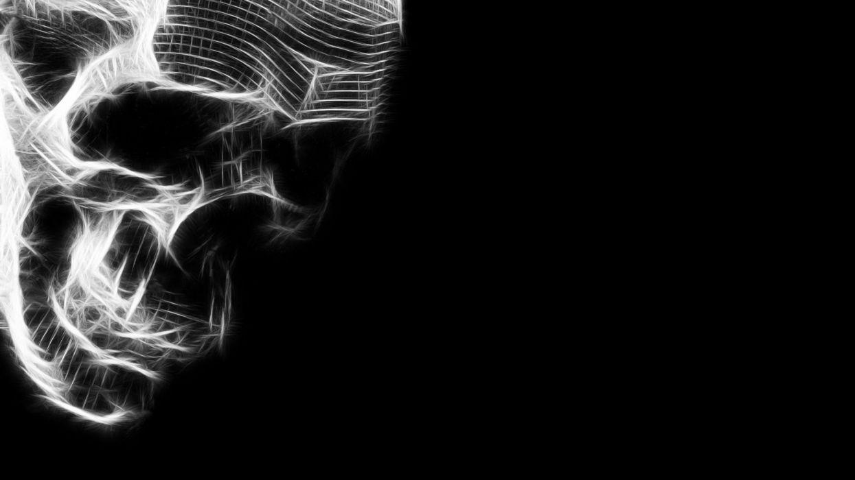 Black Skull Wallpaper 2560x1440 585356 Wallpaperup