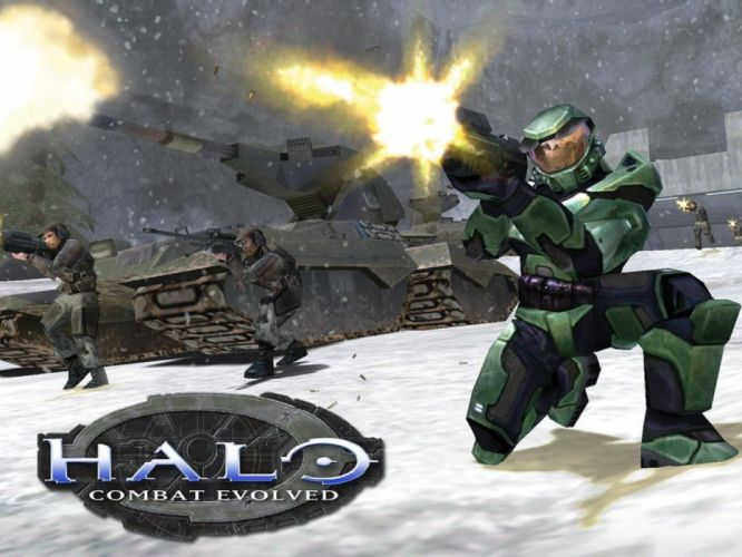 HALO COMBAT EVOLVED shooter fps action sci-fi futuristic 1combatevolved fighting warrior weapon gun wallpaper