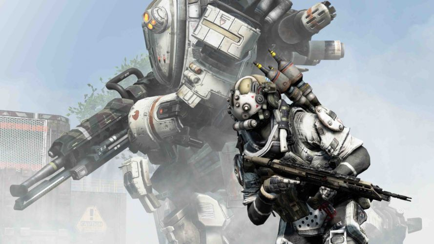 TITANFALL shooter fps action futuristic online mmo 1titanfall fighting apocalyptic warrior weapon gun mecha mech wallpaper
