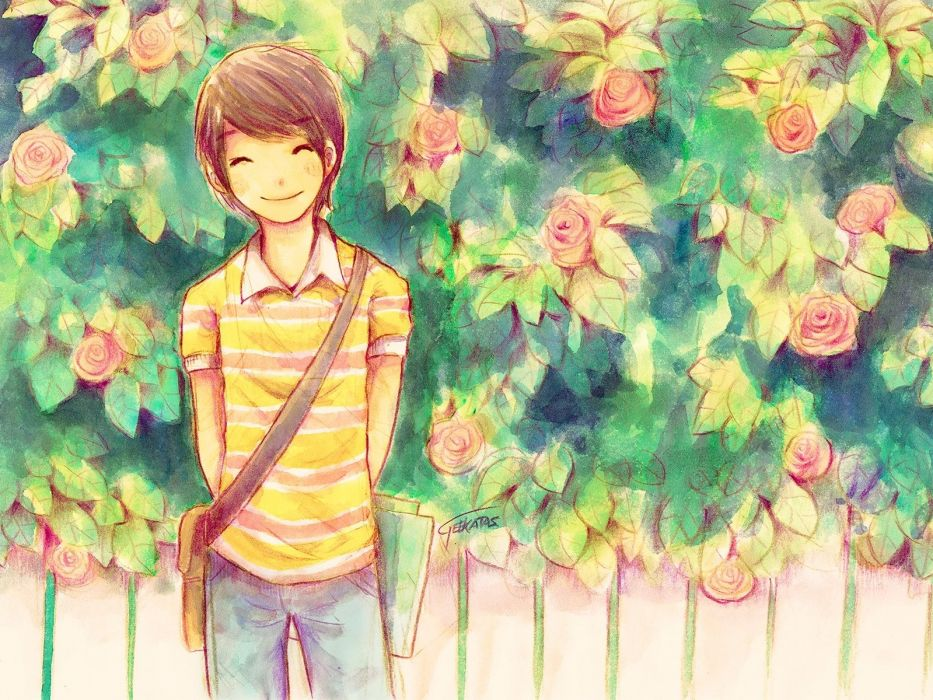 summer love amp cicadas boy flower wallpaper