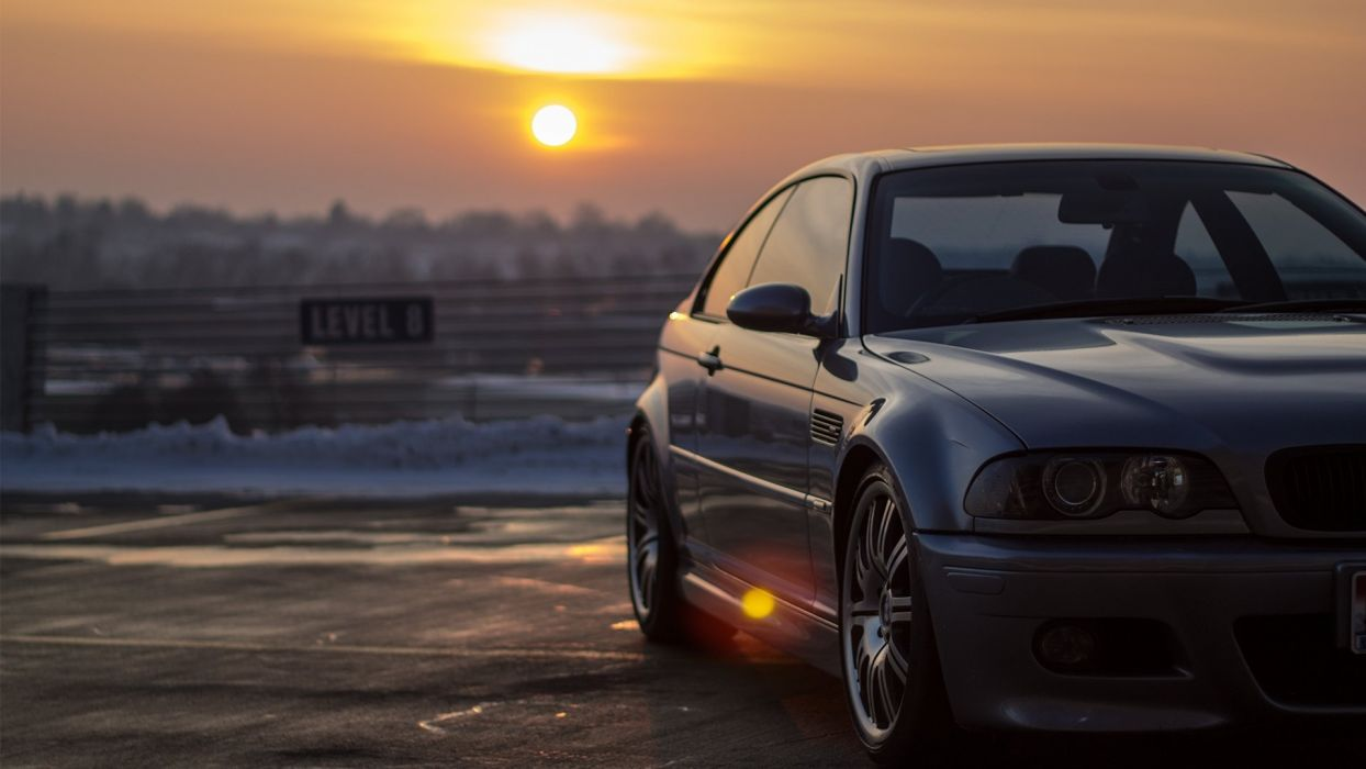 sunset cars bmw e46 m3 wallpaper