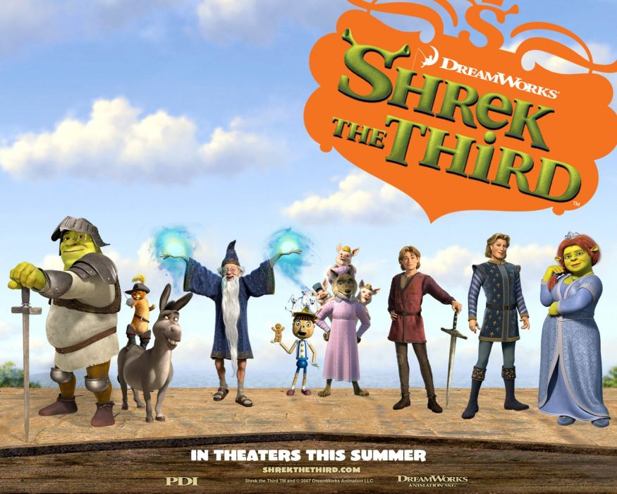 SHREK animation adventure comedy fantasy family 1shrek cartoon wallpaper