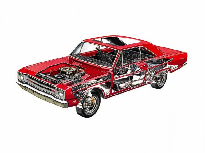 1974 Dodge Dart Deluxe classic muscle wallpaper