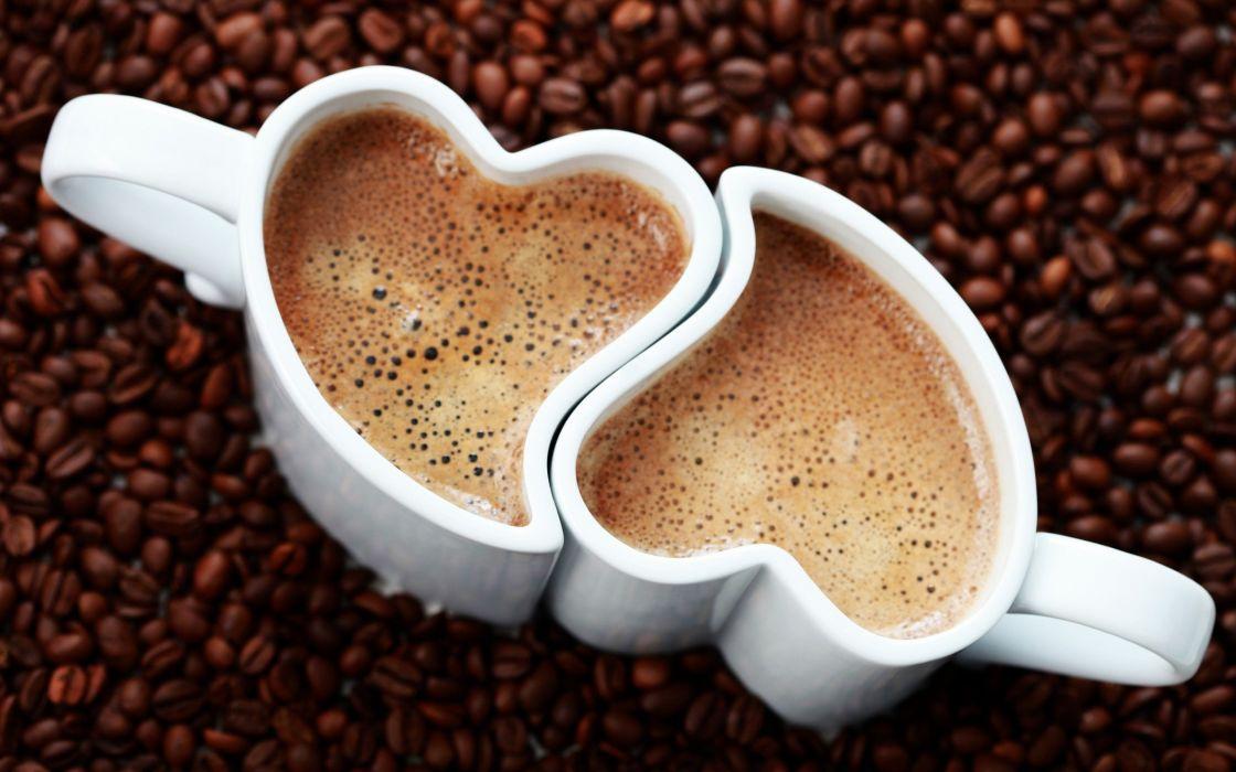 Coffee cup drink mood heart love wallpaper
