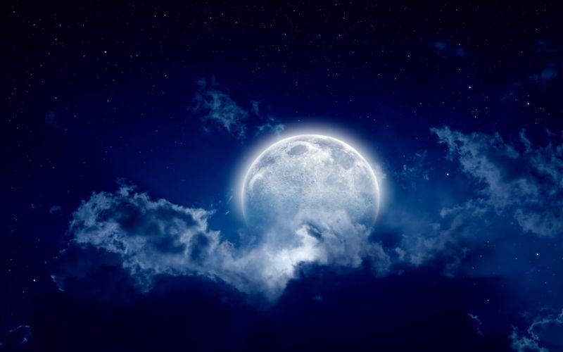 moon amazing fantasy beautiful star sky cloud wallpaper