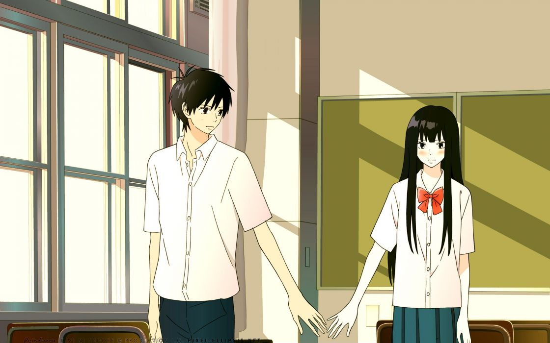 Kimi ni Todoke Series Sawako Kuronuma Character Shouta Kazehaya anime love romance couple wallpaper