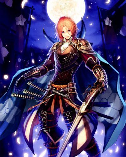 warrior moon sword weapon Sengoku Taisen Game wallpaper