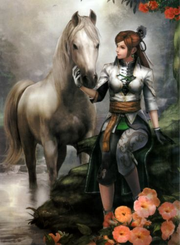 Dynasty Warriors Game Yue Ying Character horse woman wallpaper